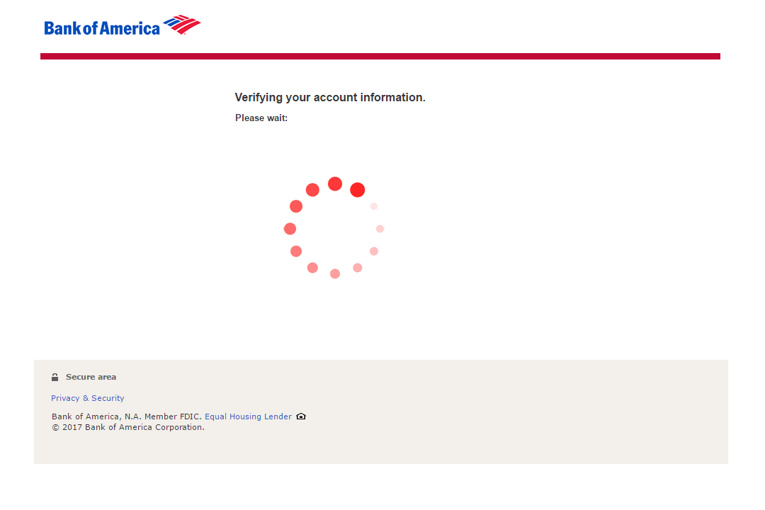 Fake Bank of America Login Page