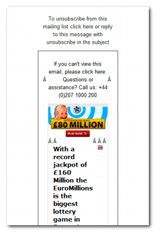 EuroMillions Scam Email