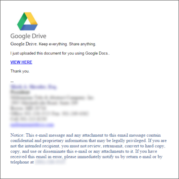 google drive phishing scam is back