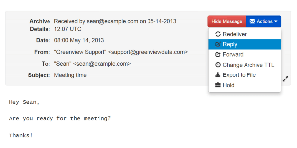 RestorEmail searching lets you quickly find and retrieve archived email