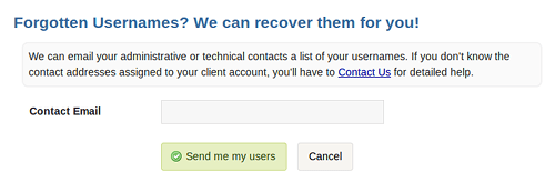 Recover a Forgotten Username